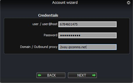 Zoiper 3 Account Wizard